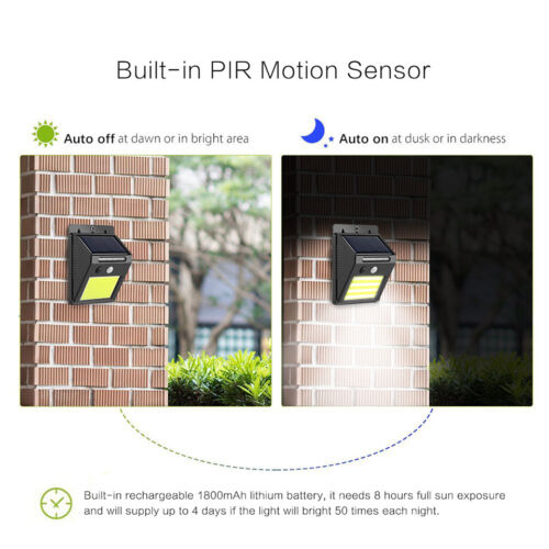 garage and walkways solar security light for home