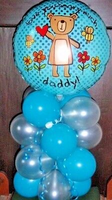 """AIR FILL 18/"""" FOIL BALLOON TABLE DISPLAY YOU ARE MY HERO DAD FATHERS DAY"""