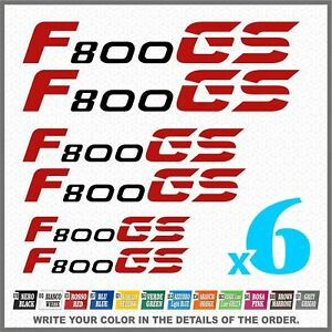 6x-F800-GS-Black-Red-BMW-MOTORRAD-PEGATINA-ADESIVI-AUTOCOLLANT-STICKERS