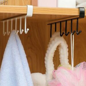 Kitchen-Under-Cabinet-Towel-Cup-Paper-Hanger-Rack-Organizer-Holder-Shelf-G3H0