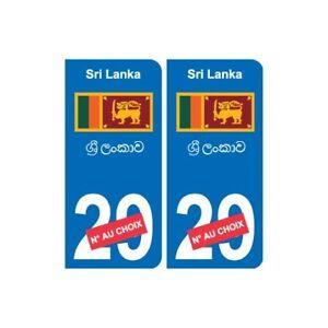 100% De Qualité Autocollant Sri Lanka ශ්රී ලංකාව Sticker Numéro Département Au Choix Plaque Imm Le Plus Grand Confort
