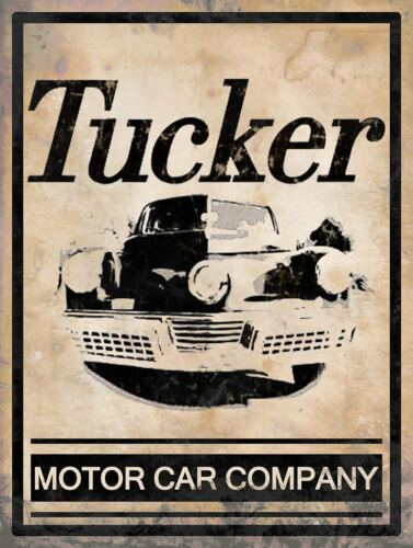 Tucker Motor Car Company Vintage Inspired Distressed Metal Sign