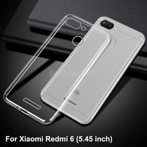 Para-Xiaomi-Redmi-6-Funda-cubierta-de-gel-de-silicona-delgada-Transparente
