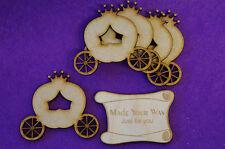 5 x Fairytale Princess Pumpkin Carriage C 5cm/50mm - Craft Embellishment MDF