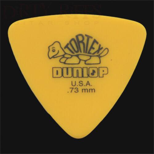 Dunlop Tortex Triangle Guitar Picks Plectrums 0.73mm Yellow 6 10 12 20 24 36