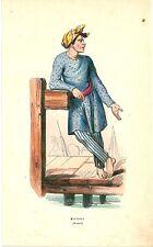 1852 COSTUME MALESIA Malaysia lithography Kuala Lumpur Johor Bahru Ipoh Kuching
