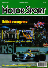 Motor Sport Aug 1992 - British Grand Prix Mansell, Le Mans 24, Endurance karting