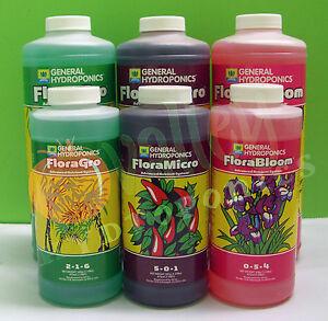 General-Hydroponics-3-Part-FLORA-SERIES-PT-QT-FloraGro-FloraMicro-FloraBloom-GH