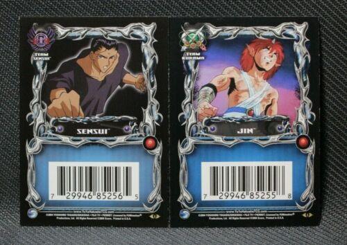 Yu Yu Hakusho TCG Betrayal Insert Spirit Skannerz Jin and Sensui 1st Edition