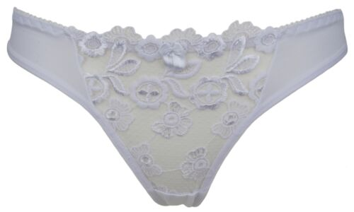 Trifolium Floral Embroidered Multiway Underwired Bra /& Thong Set White