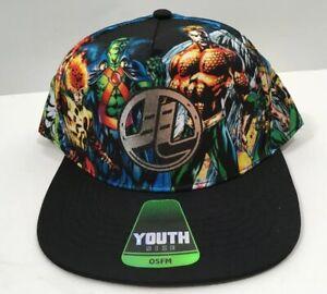 New-Justice-League-BOYS-Youth-Cap-Aquaman-Firestorm-Martian-Manhunter-Hawkman