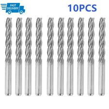 #US 10Pcs 1//8/'/' 2 Flute 3.175mm Carbide CNC Ball Nose End Mill Bits 22mm Flute