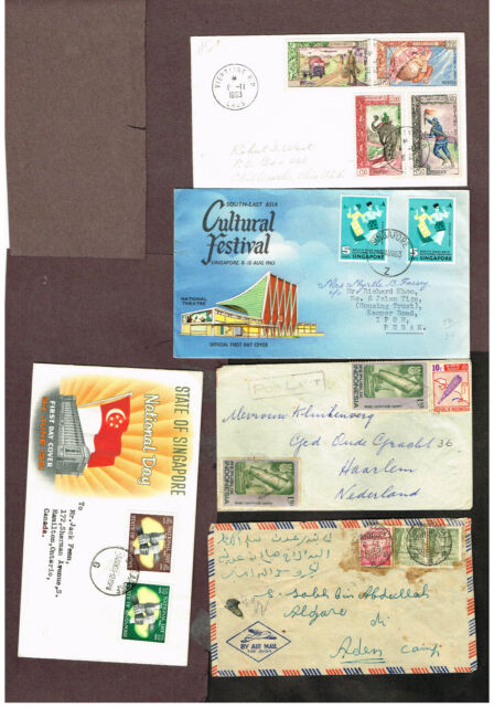 5-PAGES INDONESIA SINGAPORE LAOS   ADVERTISING FDC's ETC      (BER24
