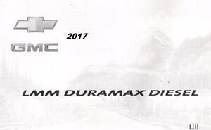 2017 chevy express silverado gmc savana sierra owners manual diesel rh ebay com 2007 Duramax Diesel Fuel Economy 2007 LBZ Duramax Diesel
