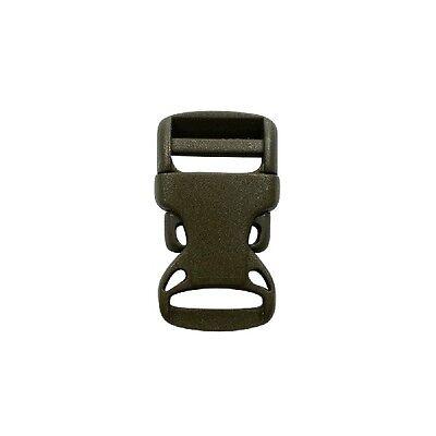 10 Stück Klickverschluss //Klippverschluss Steckschließer Gurtband 20mm OLIVE