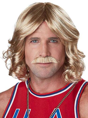 Moustache Adults 1970s Fancy Dress Accessory Porn Star Mens 70s Playboy Wig