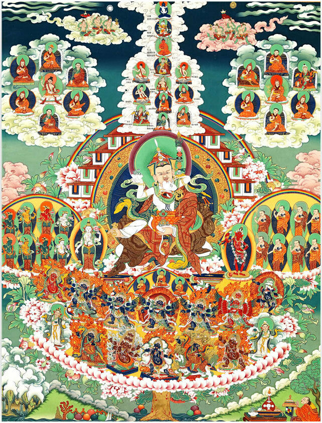 Deluxe Jigsaw Puzzle 1000 pièces Buddhist Scriptures Histoire Tibet Tangka YC1142