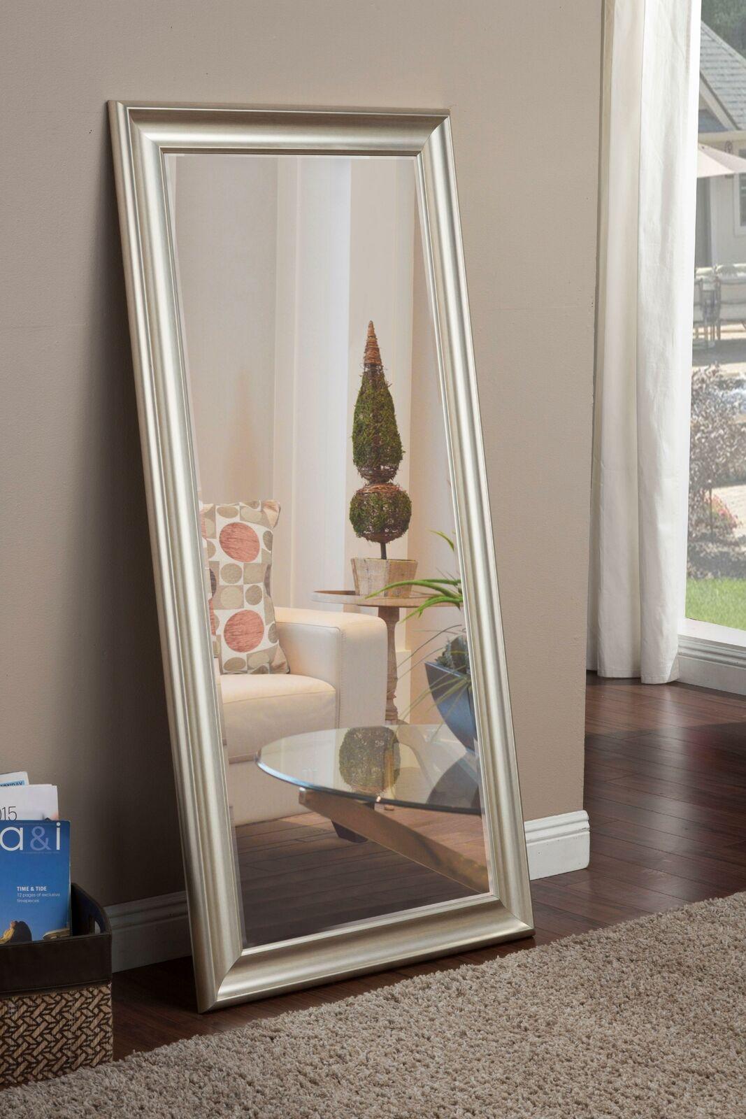 Full Length Floor Mirror Leaning Wall Hang Leaner Living Bedroom Pale Gold Frame For Sale Online Ebay