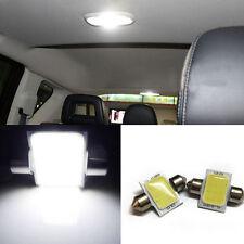 2x White 31mm 12-COB-LED Bulbs Car Interior Dome Map Lights #XD09