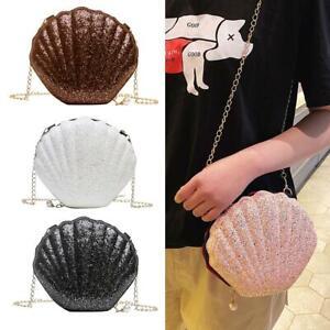 Women-Shoulder-Bag-Sequins-Shell-Shape-Bag-Chain-Satchel-Crossbody-Messenger-Bag