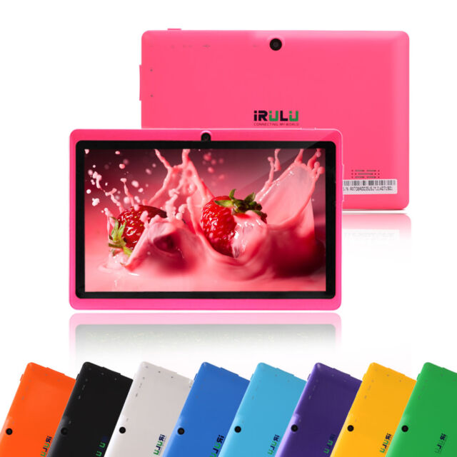 """iRULU New Tablet PC Multi-Color 7"""" Google Android 6.0 Quad Core GMS 8GB & 16GB"""