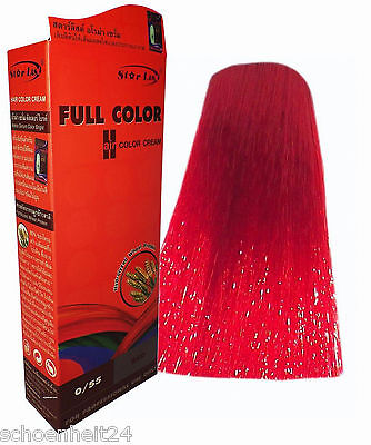 Hair COLOR Colour Permanent Hair Cream Dye Punk Emo Rock Glam Anime BRIGHT RED