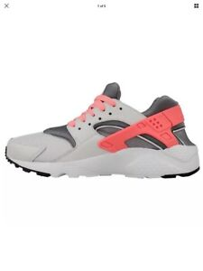 huge discount bbf66 4aad0 Details about Nike Huarache Run (GS) Running grey pink lava White  654280-010 Sz. 7y NIB