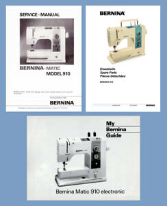 Details about BERNINA Matic 910 Electronic Instruction or Service manual &  Parts * CD or DWNLD