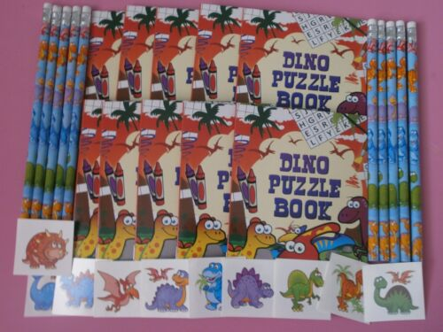 Dinosaur Puzzle Books x 10* Pencils x 10* Tattoos x 20*Party Bag Fillers*Prizes*