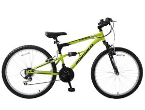 "Mens Mountain Bike Full Suspension MTB Bike Summit 26"" Wheel 19"" Frame Green"