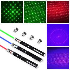 Blue Violet Laser Pointer Light Beam Bright Powerful 5mW Pen Star Lens Caps