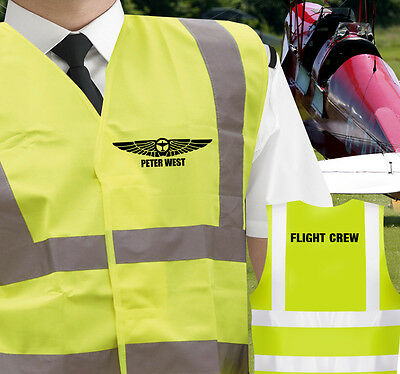 Personalised Aviation CPL PPL Pilot Hi-Visibility Airside Vest