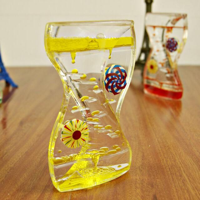Floating Color Mix Illusion Liquid Motion Visual Slim Oil Hourglass Timer Random