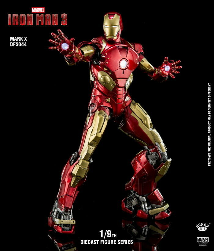 King Arts Dfs044 19 Iron Man Mark 10 X Mk10 Action Figure