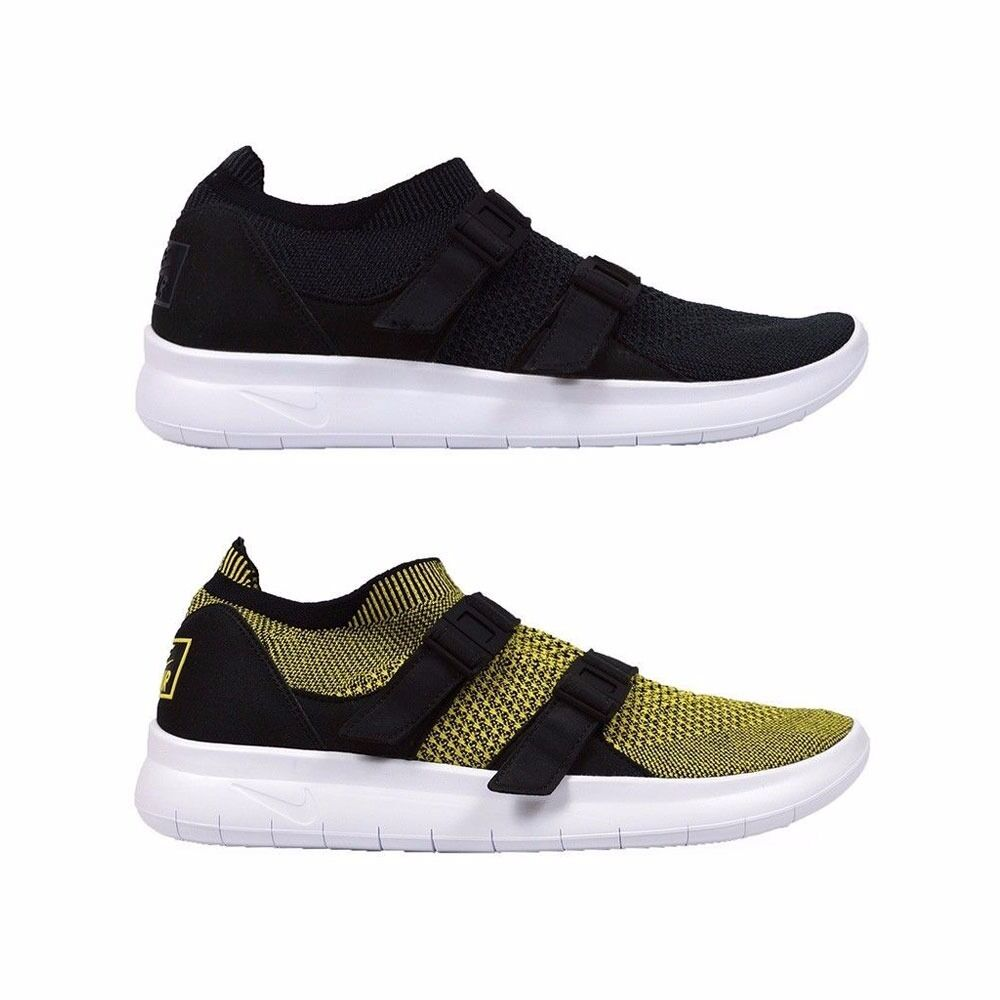 Nike Air Sock Racer Flyknit Low Mens Running Shoes Men's 898022-001 898022-700 Black/Anthracite-Black-White,Yellow Strike/Yellow Strike-Bl...