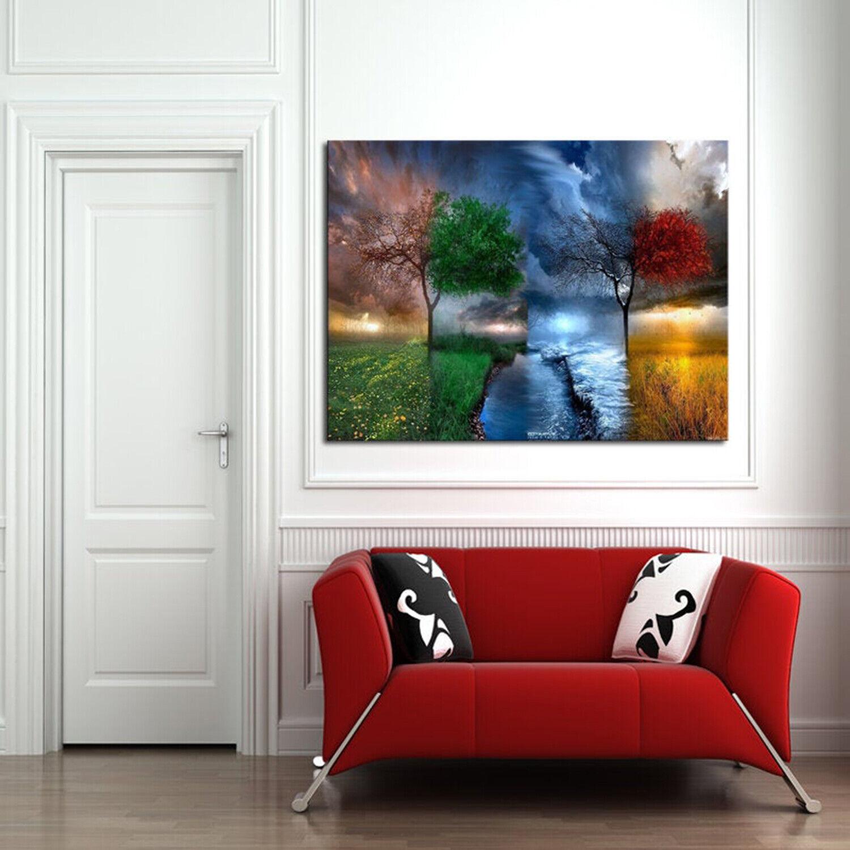 Mágico paisaje DE LONA pared arte Foto 4 Panel Multi Split 100CM RDY Colgar 2