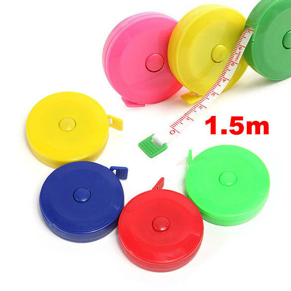 New 1Pcs Retractable Ruler Tape Measure Sewing Cloth Dieting Tailor 1.5M 150cm