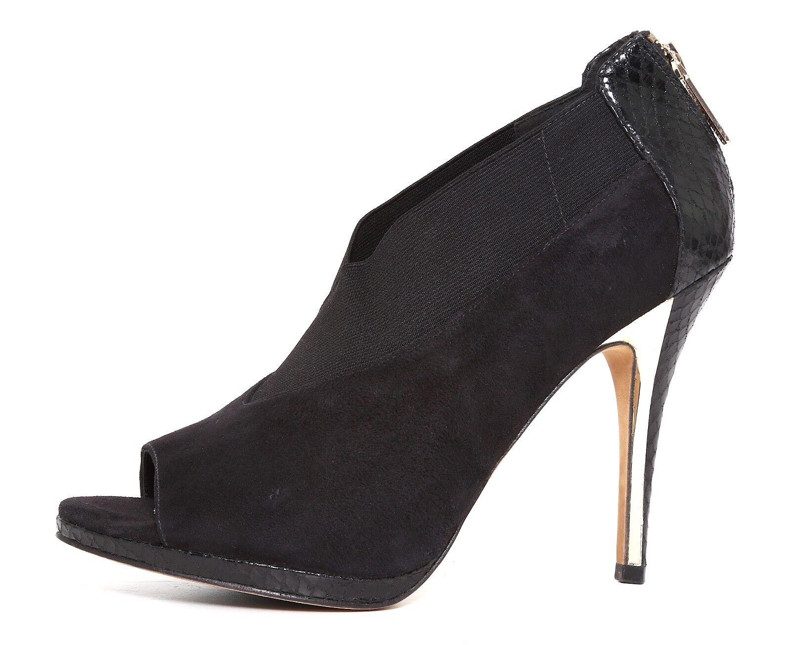 Donald J Pliner High Heel Suede Peep Toe Bootie Black Women Sz 9.5 M 1551
