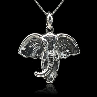 Elephant Zoo Safari Charm Pendant NEW 925 Sterling Silver Elephant Necklace