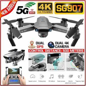 SG907 5G WIFI 4K RC Drone Dual Camera GPS Gesture Photos Video RC Quadcopter