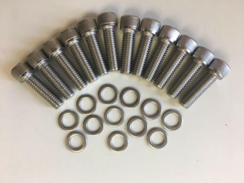 Small Block Chevy V8 Allen Head Stainless Steel Intake Bolt Kit 262 thru 400