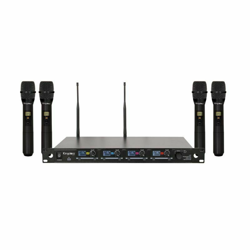 UHF 4 Handheld Mic Wireless Microphone System - 1,000 Selectable Frerquencies