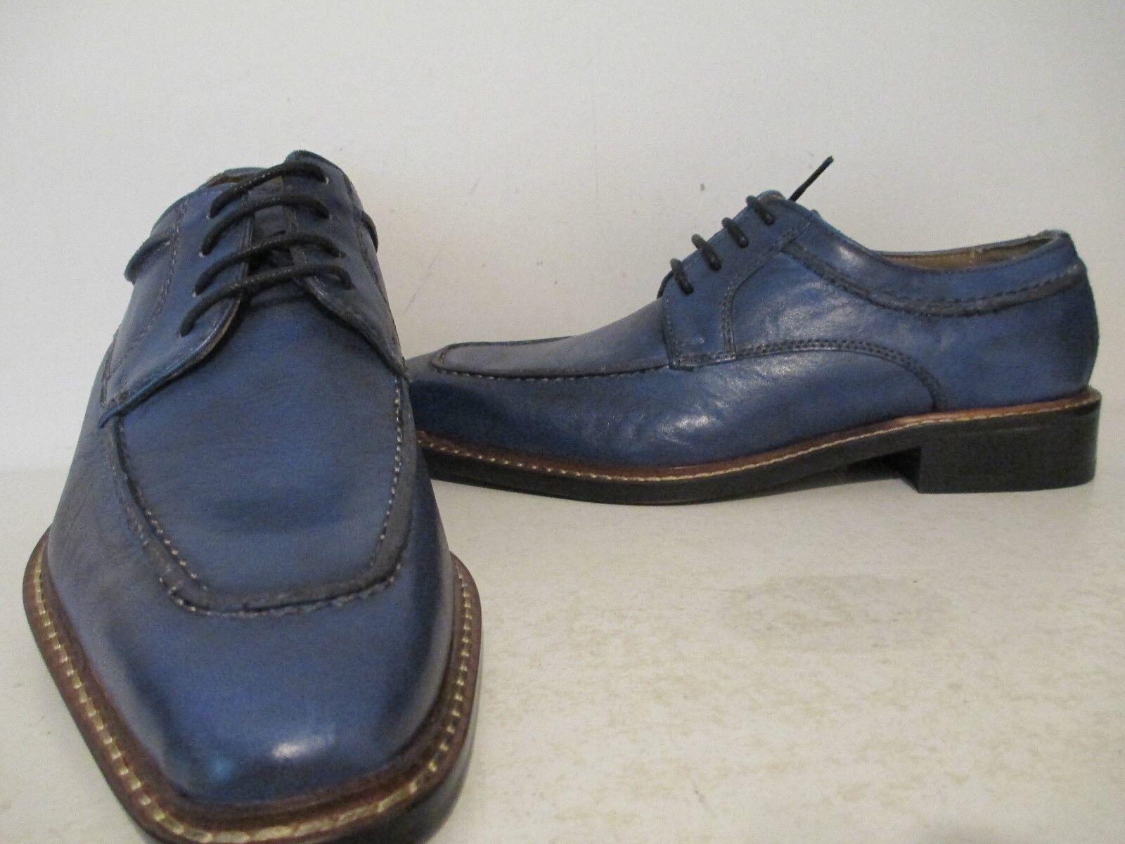 Giorgio Brutini Uomo Nelson 25033 Pelle Moc Toe Oxford Dress Shoe Blue Sz 7.5