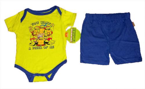 TEENAGE MUTANT NINJA TURTLES GREEN BABY CREEPER AND BLUE PANTS~SIZE 6//9 MONTHS