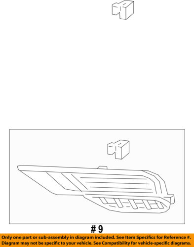 HONDA OEM CR-V Front Bumper-Foglight Fog Light Bezel Cover Trim Left 71109T1WA10