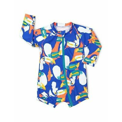 NEW Bonds Baby Swim Long Sleeve Zip Suit Blue