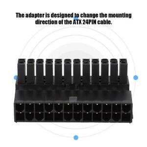 24Pin Female to Male 90 Degree Right Angle ATX Power Connector Adapter for PC