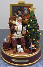 The BRADFORD EXCHANGE Meowy Christmas Santa Claus and Cats Kittens Lit Light Up