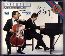 Yo-Yo MA Signiert BEETHOVEN Cello Sonata No.1-5 Emanuel AX 2CD CBS Cellosonaten