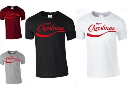 Enjoy Christmas T Shirt Top Stocking Santa Claus Father XMAS lot ENJOY,TSHIRT